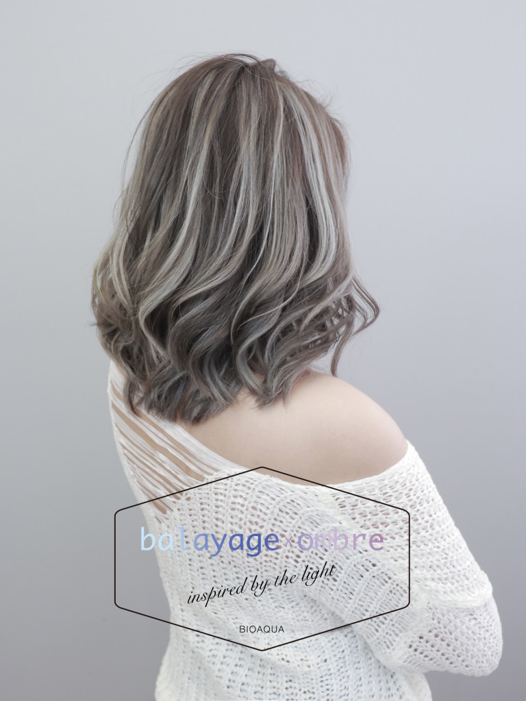 歐美髮色 灰棕色+乳灰色手刷線條染 - 台中髮廊 染髮挑染推薦 元氣美髮