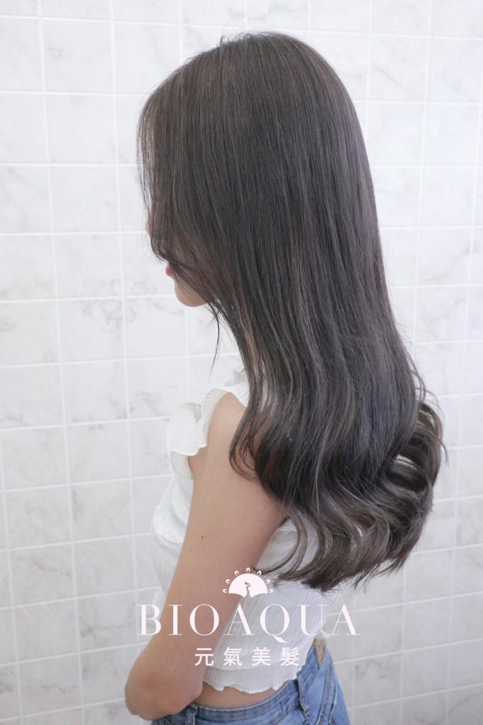 霧感深灰髮色 - 台中西區髮廊 剪髮染髮推薦 元氣美髮