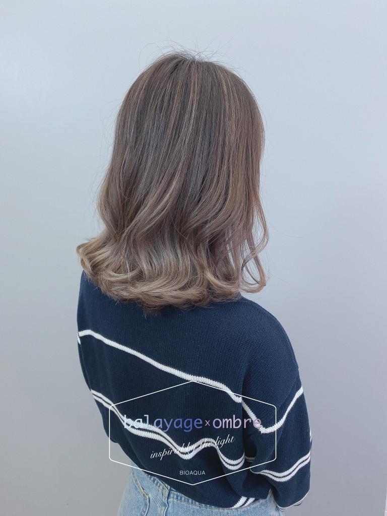 奶茶灰色歐美漸層暈染 - 台中髮廊 歐美刷染推薦 元氣美髮