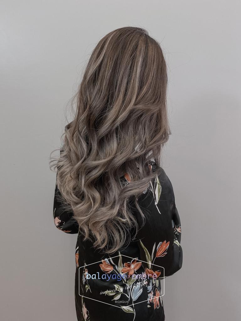 灰色調歐美手刷染 - 台中髮廊 balayage染髮推薦 元氣美髮