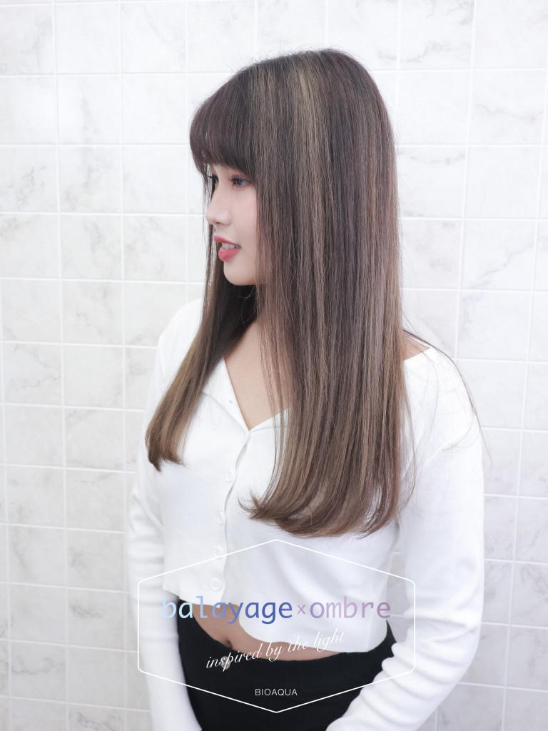 杏仁色手刷線條染 - 台中髮廊 歐美漸層染髮推薦 元氣美髮