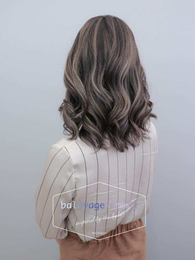 深灰棕色+乳灰色手刷線條染 - 台中髮廊 歐美染髮推薦 元氣美髮