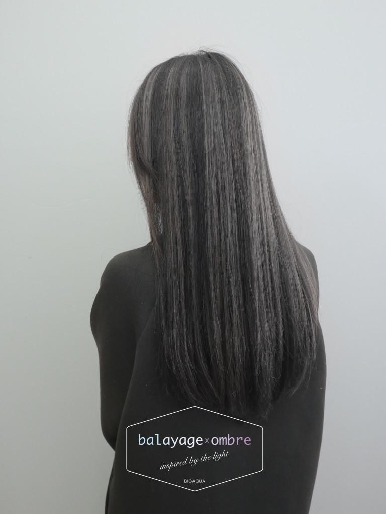 灰色調手刷線條染 - 台中髮廊 歐美手刷染推薦 元氣美髮