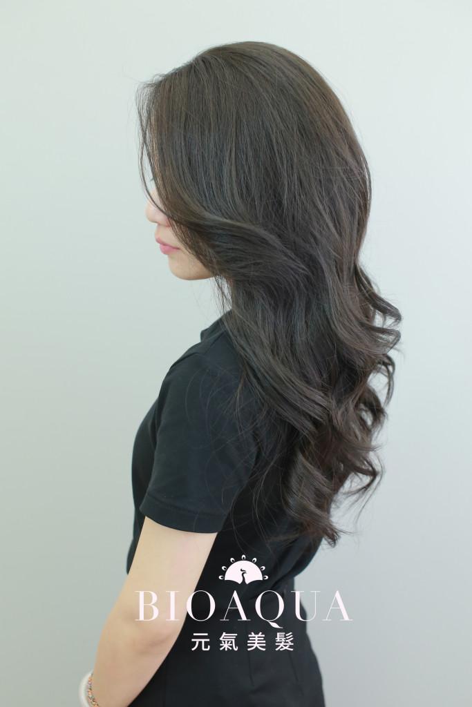 霧感深灰棕髮色 - 台中髮廊 剪髮染髮推薦 bioaqua元氣美髮