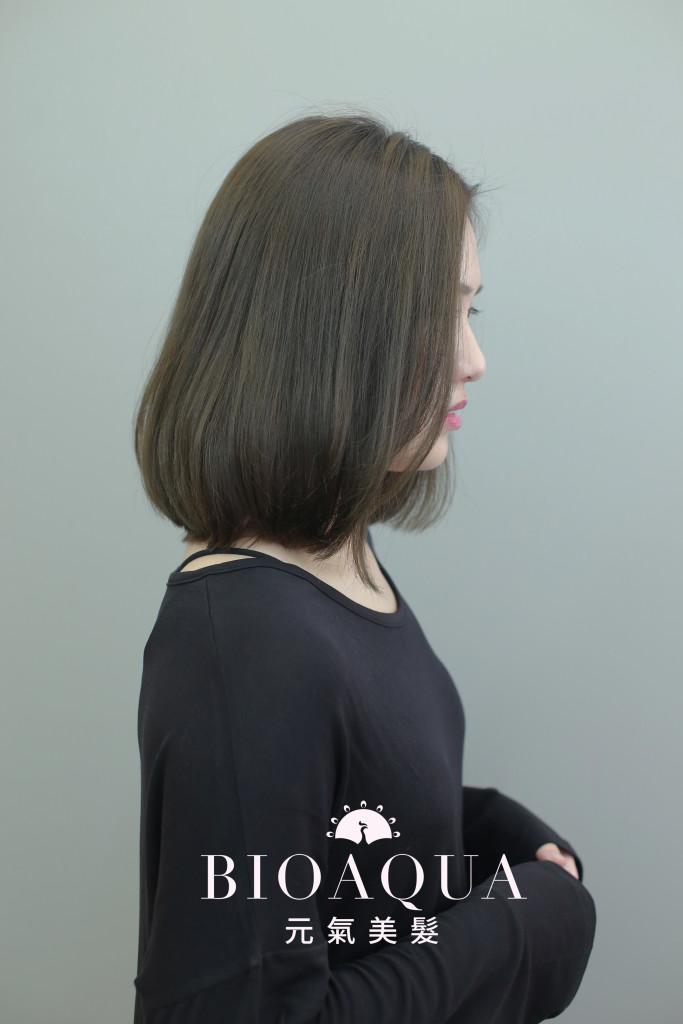 灰綠棕色LOB - 台中髮廊 剪髮染髮推薦 元氣美髮