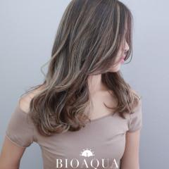 淺棕色+奶茶灰色 歐美手刷線條染髮
