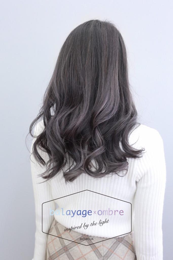 深紫灰棕色+灰色手刷線條染 - 台中髮廊 歐美手染髮推薦 元氣美髮