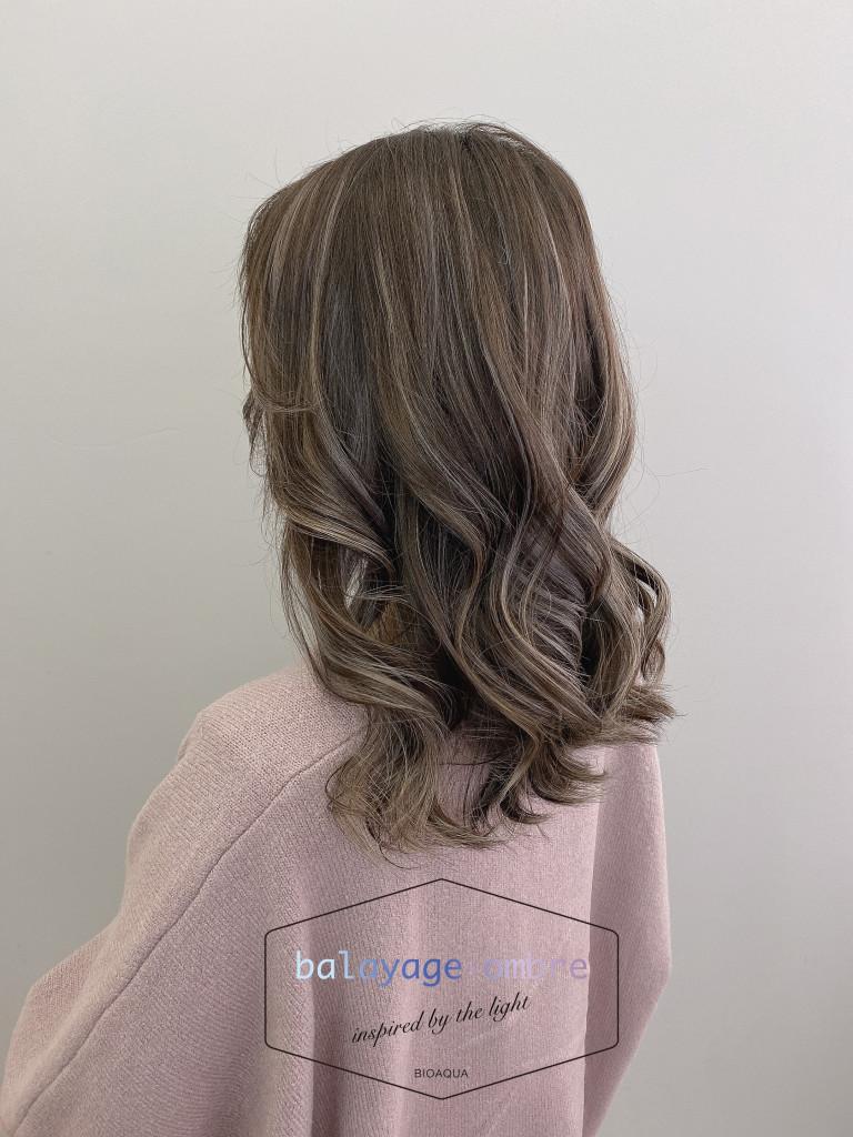 乳灰色歐美手刷線條染 - 台中髮廊 歐美手刷染髮推薦 元氣美髮