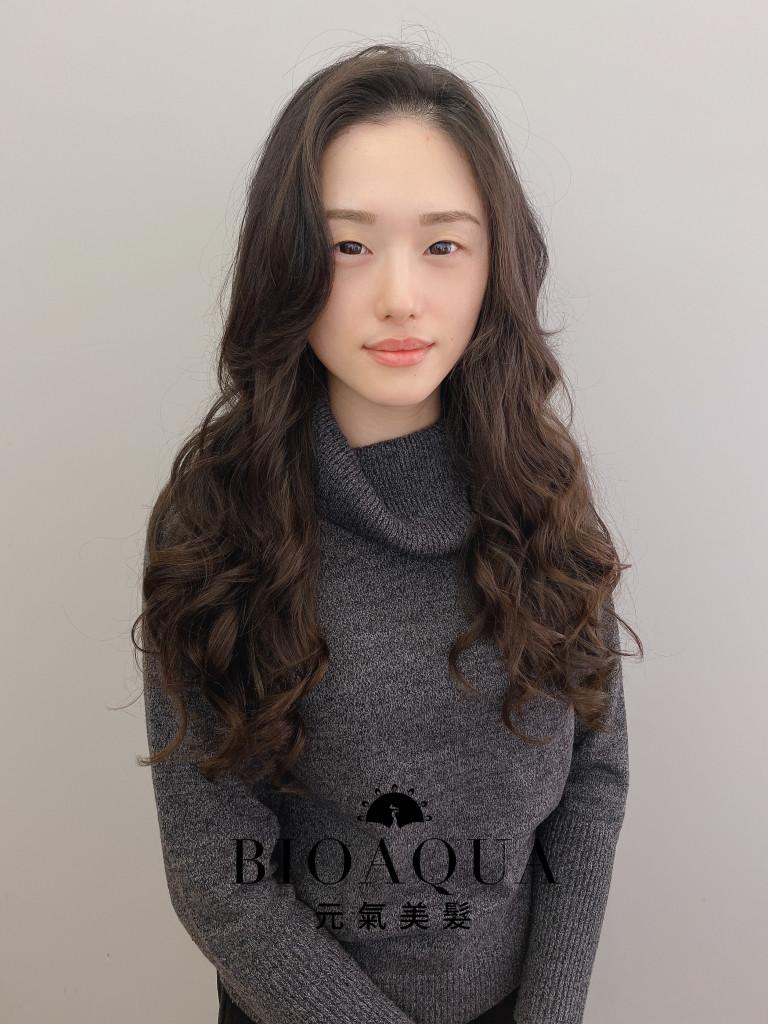 電棒風手繞燙 by 資生堂水質感 - 台中髮廊 燙髮推薦 元氣美髮