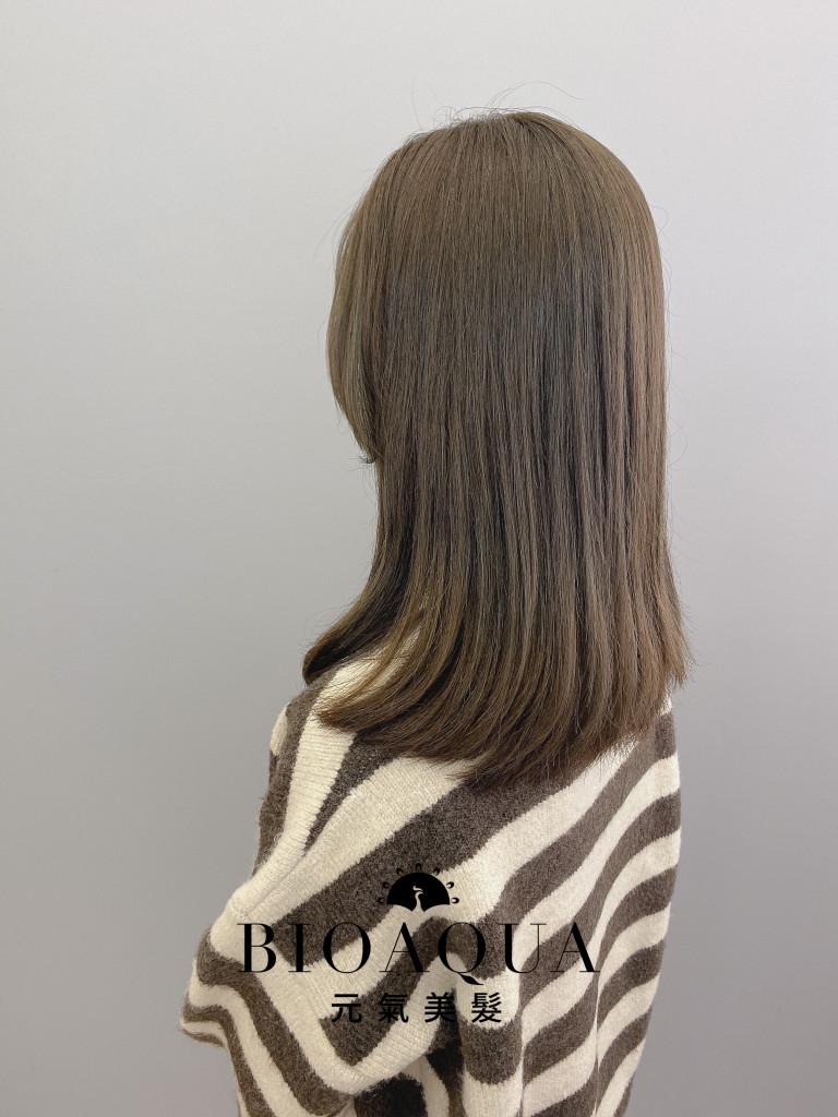 霧感灰綠棕髮色 - 台中髮廊 剪髮染髮推薦 元氣美髮