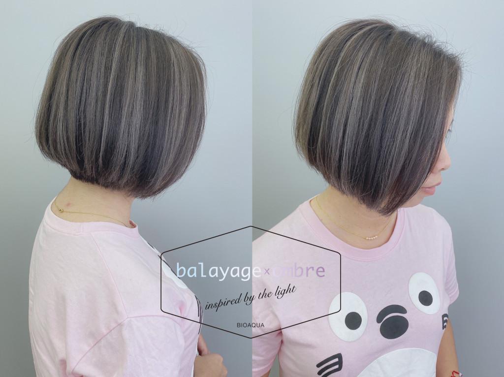 BOB頭+歐美刷染推薦~歐美手刷線條染髮 - 台中髮廊 元氣美髮