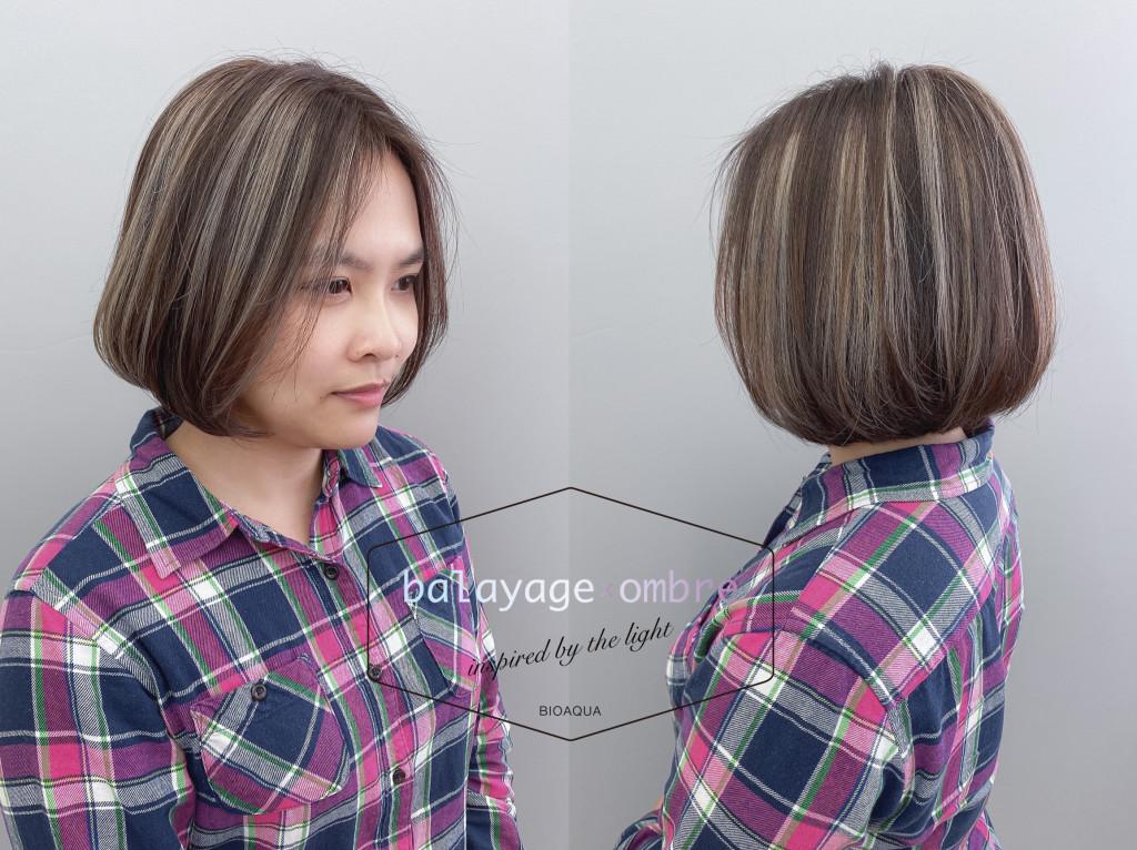 奶茶色歐美手刷挑染 鮑伯頭 5種經典短髮&中短髮造型 推薦給妳! - 台中髮廊 元氣美髮