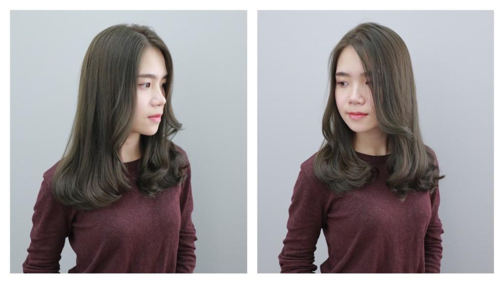 霧感灰綠色 Emma設計師的時髦設計款 優惠放送中~ - 台中髮廊 元氣美髮