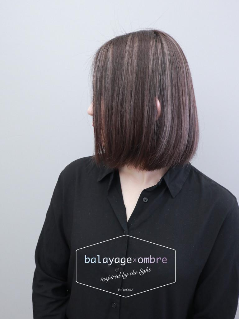 深灰棕色+灰色手刷線條染 - 台中髮廊 歐美挑染推薦 元氣美髮