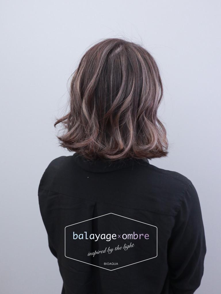 深灰棕色+灰色手刷線條染 - 台中髮廊 歐美挑染 染髮推薦 元氣美髮