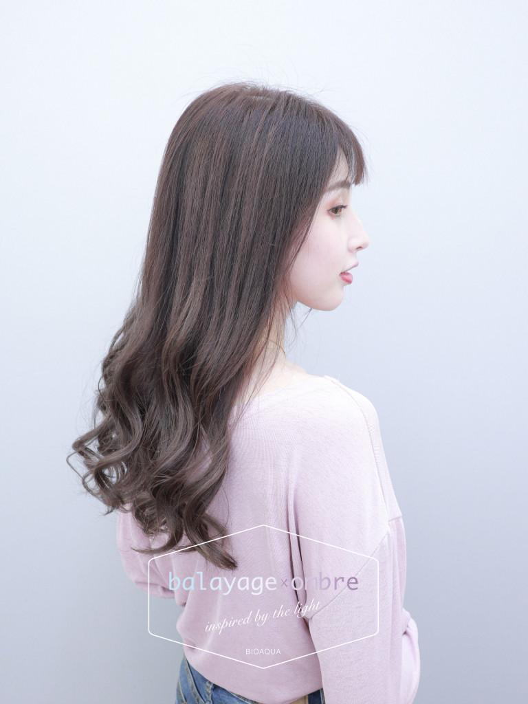 奶茶色手刷線條染 - 台中髮廊 歐美刷染推薦 元氣美髮