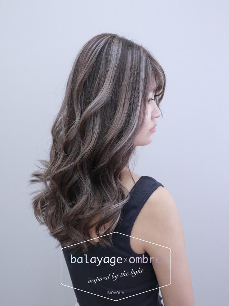 灰棕色+乳灰色 歐美手刷線條染 - 台中髮廊 染髮推薦 元氣美髮