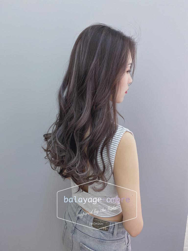 灰紫色調歐美線條刷染 - 台中髮廊 剪髮染髮推薦 元氣美髮