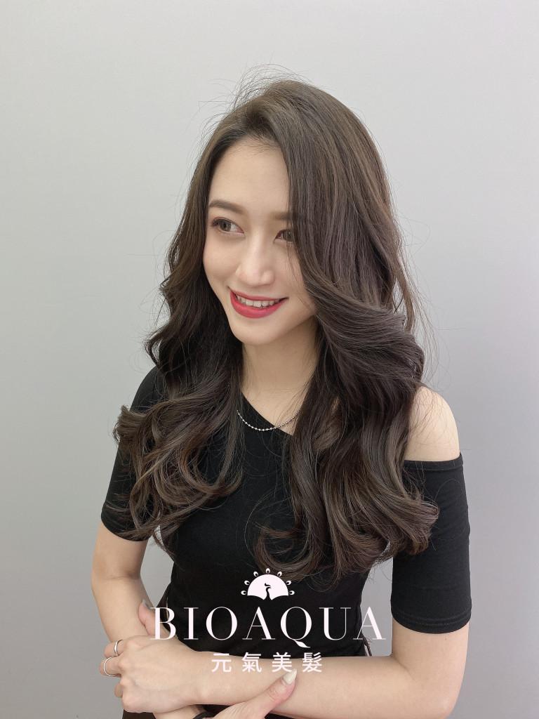 霧感深灰棕色 - 台中髮廊 染髮護髮推薦 Bioaqua元氣美髮