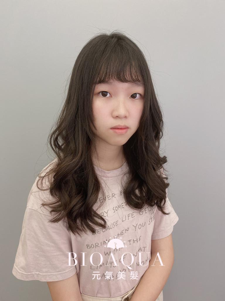 手繞電棒燙 韓式木馬捲 台中髮廊 韓風燙髮推薦 元氣美髮