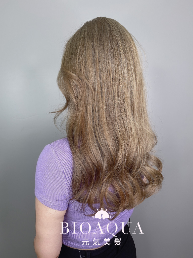 奶茶灰髮色 - 台中髮廊 剪髮染髮推薦 bioaqua元氣美髮