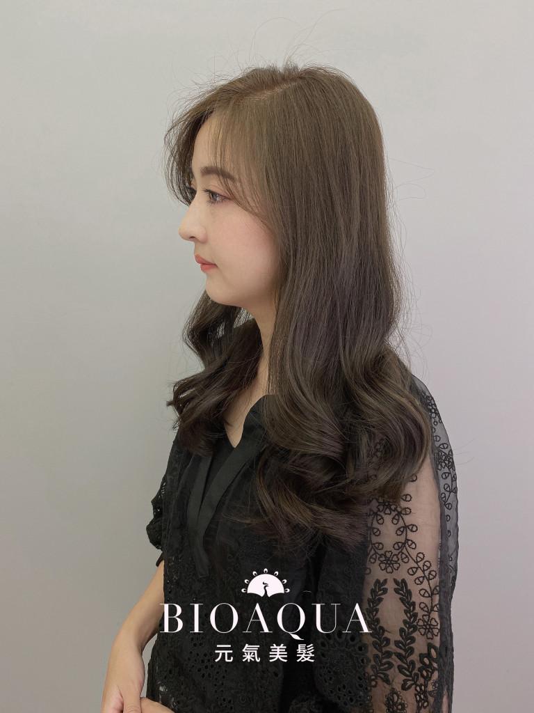橄欖灰綠棕色 - 台中髮廊 剪髮護髮推薦 bioaqua元氣美髮