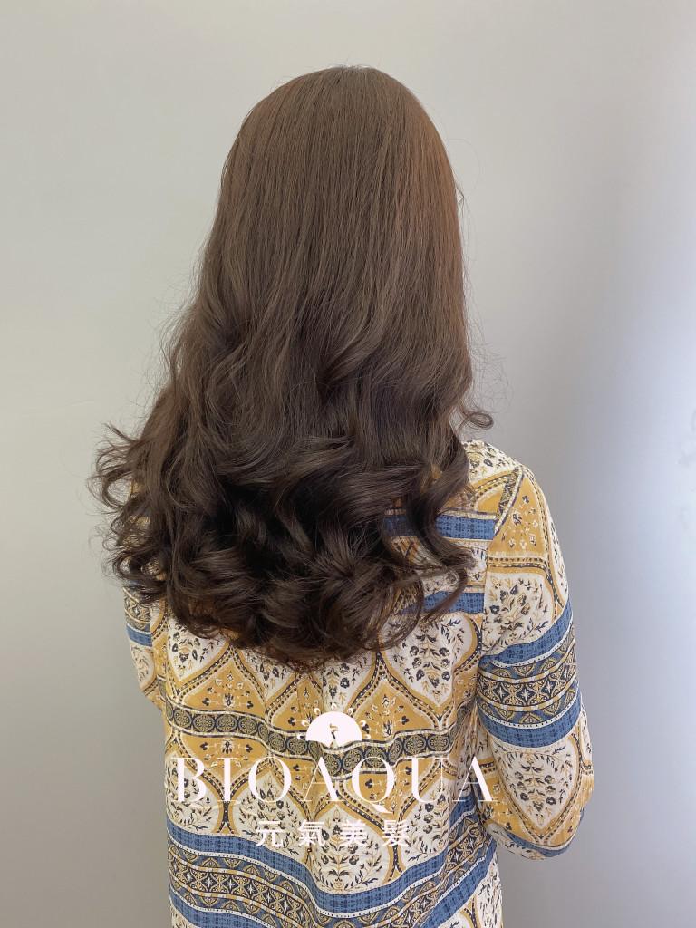 手繞燙電棒大捲 by 資生堂水質感燙髮 - 台中髮廊推薦 元氣美髮