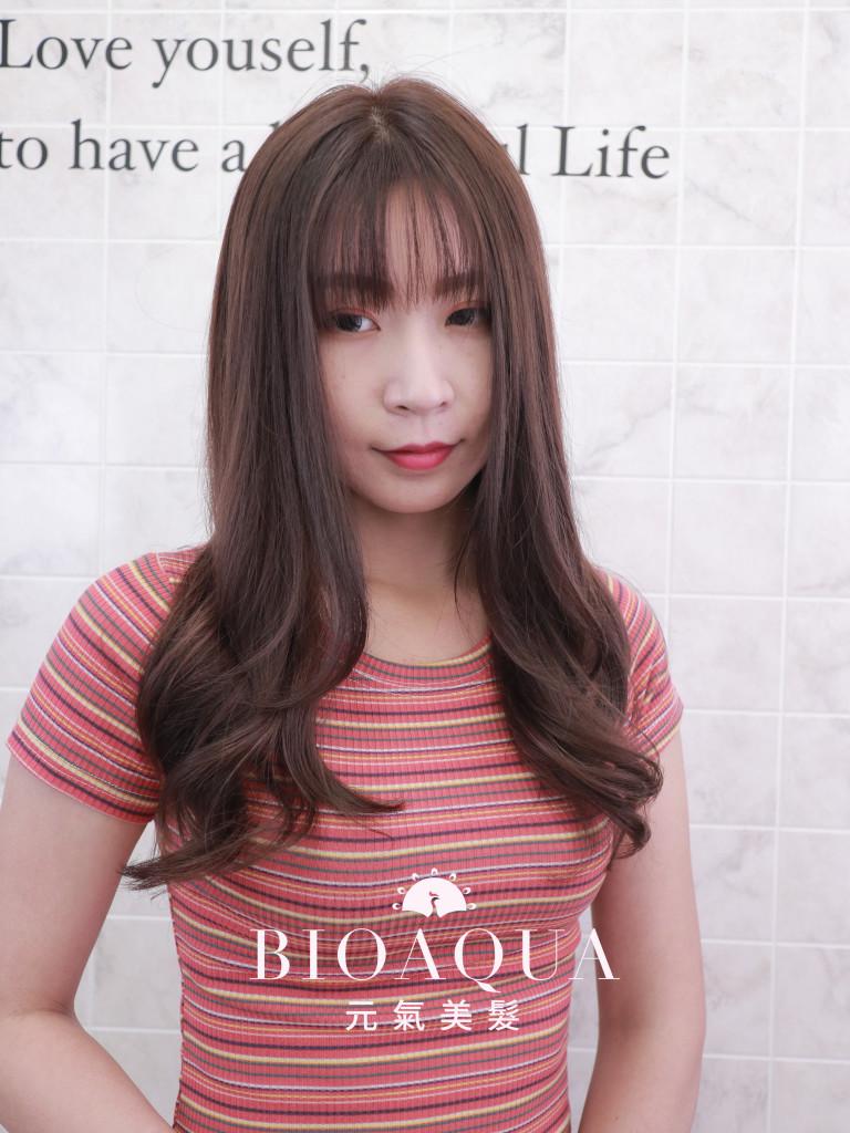 粉紫灰棕色 - 台中西區西屯髮廊 染髮燙髮推薦 元氣美髮