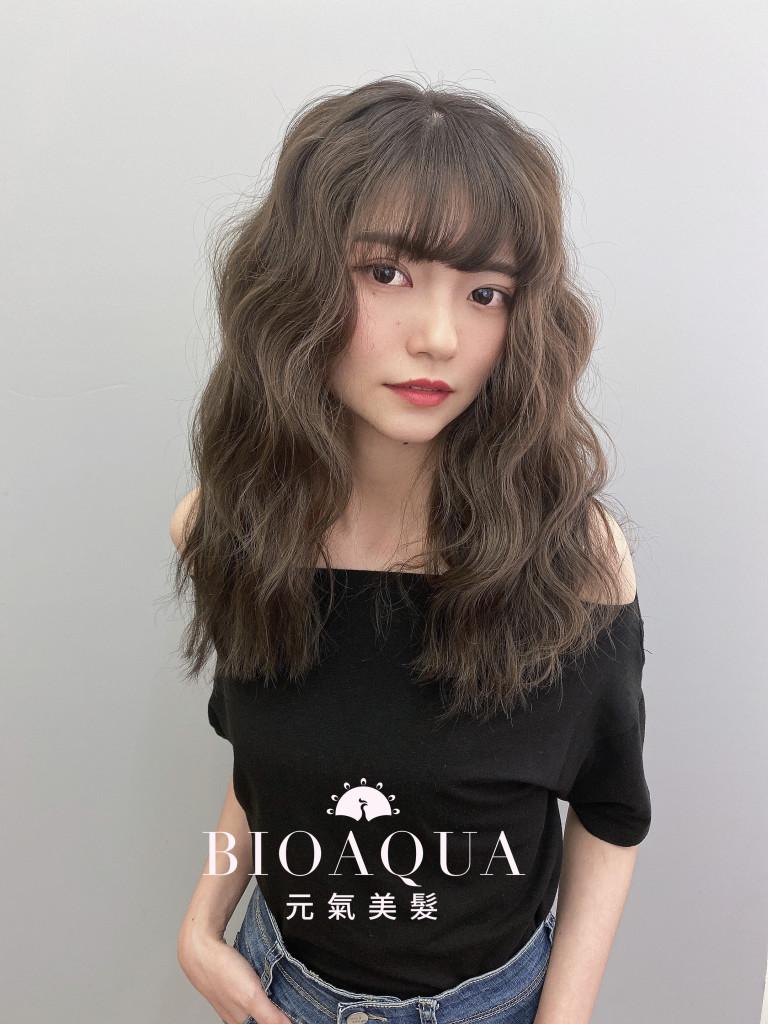 霧感灰棕色+三管電棒捲 - 台中髮廊 剪髮染髮推薦 元氣美髮