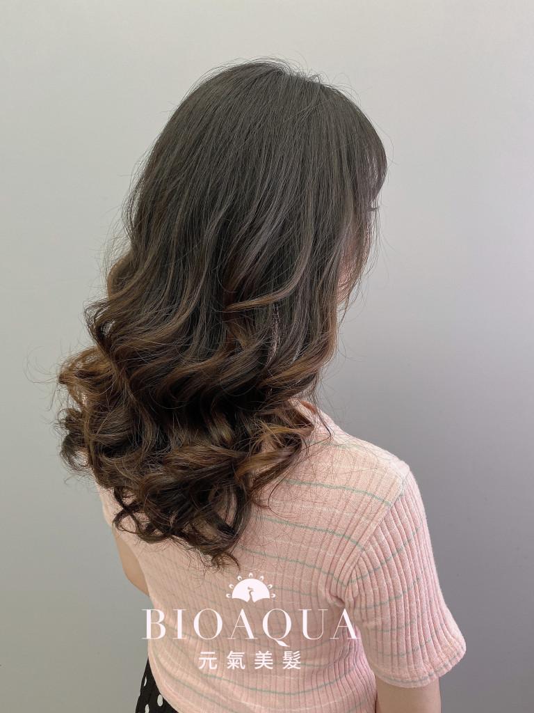 水繞電棒燙 資生堂水質感 - 台中髮廊 剪髮燙髮推薦 元氣美髮