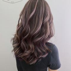 粉紫色調歐美線光染