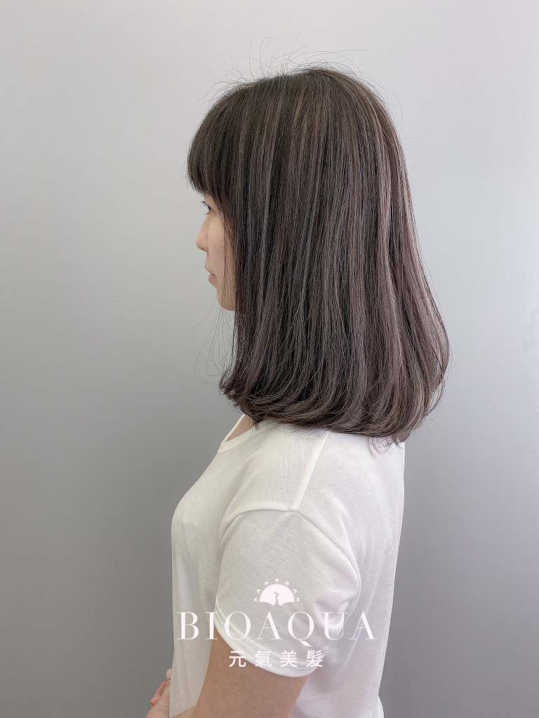 歐美手刷線條染 淺灰+深灰棕色 - 台中髮廊 線條染髮推薦 元氣美髮