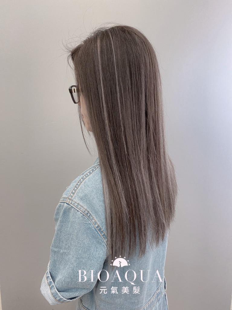 歐美手刷線條染 淺灰+深灰色 - 台中髮廊 剪髮染髮推薦 元氣美髮