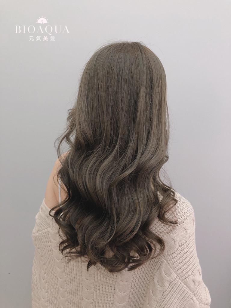 霧感髮色 深灰綠棕色 - 台中髮廊 染髮京喚羽護髮推薦 元氣美髮