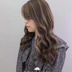灰棕+米灰色 歐美手刷線條染
