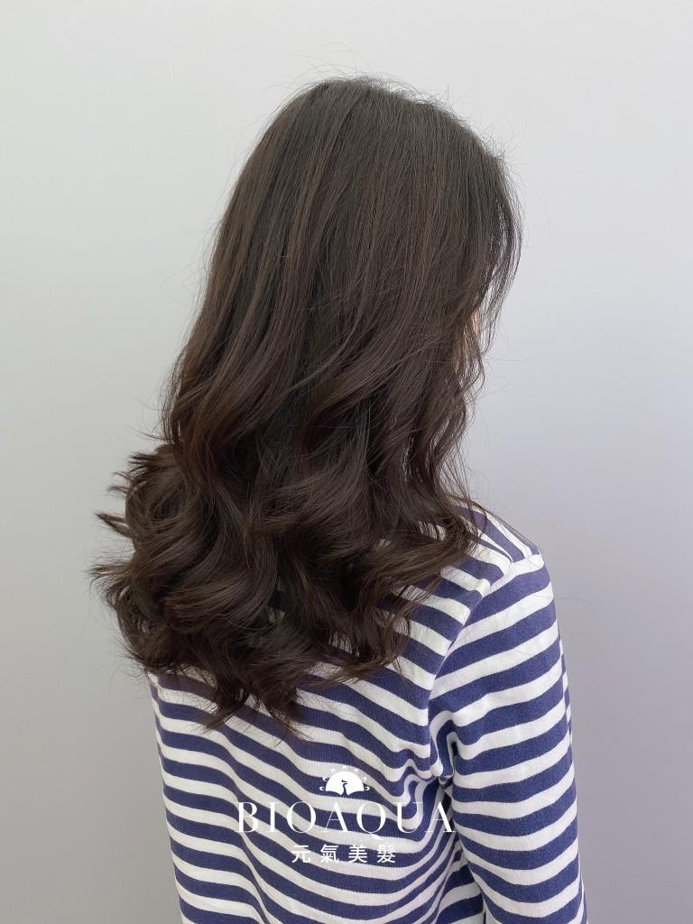 韓風電棒燙手繞捲 - 台中髮廊 剪髮燙髮推薦 元氣美髮