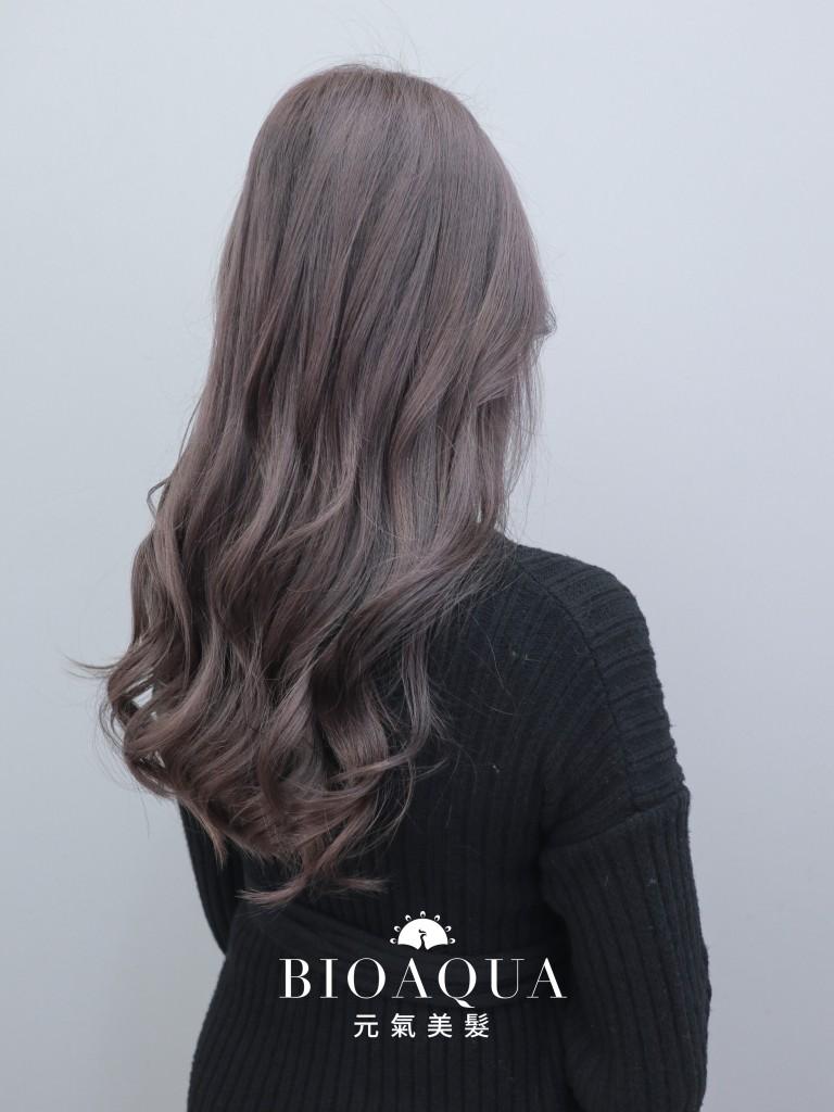 霧感髮色 奶茶灰色 - 台中髮廊 剪髮染髮推薦 元氣美髮