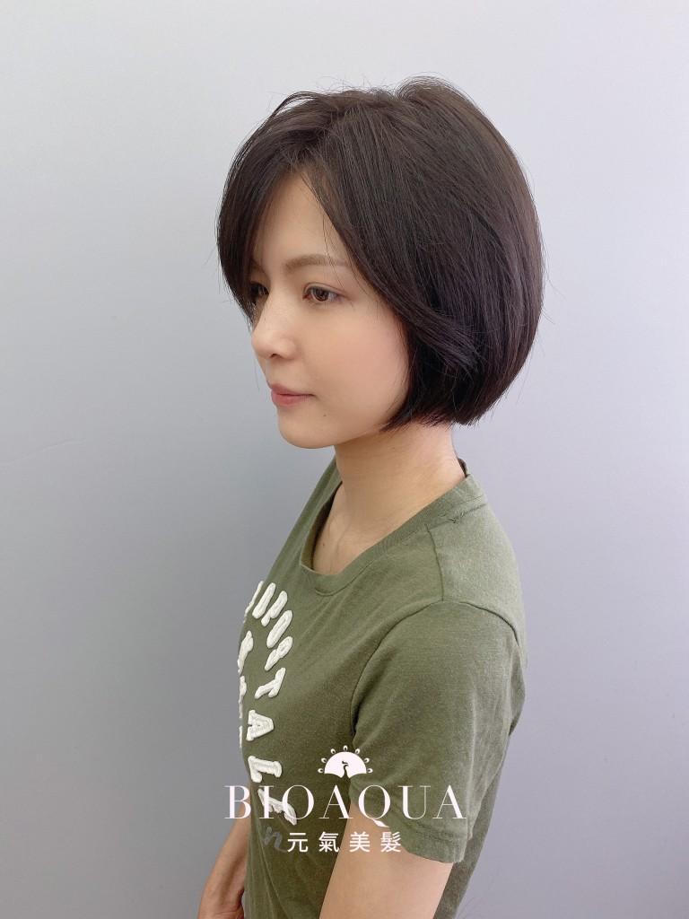 深紫灰棕色 鮑伯頭 - 台中髮廊 剪髮染髮推薦 元氣美髮