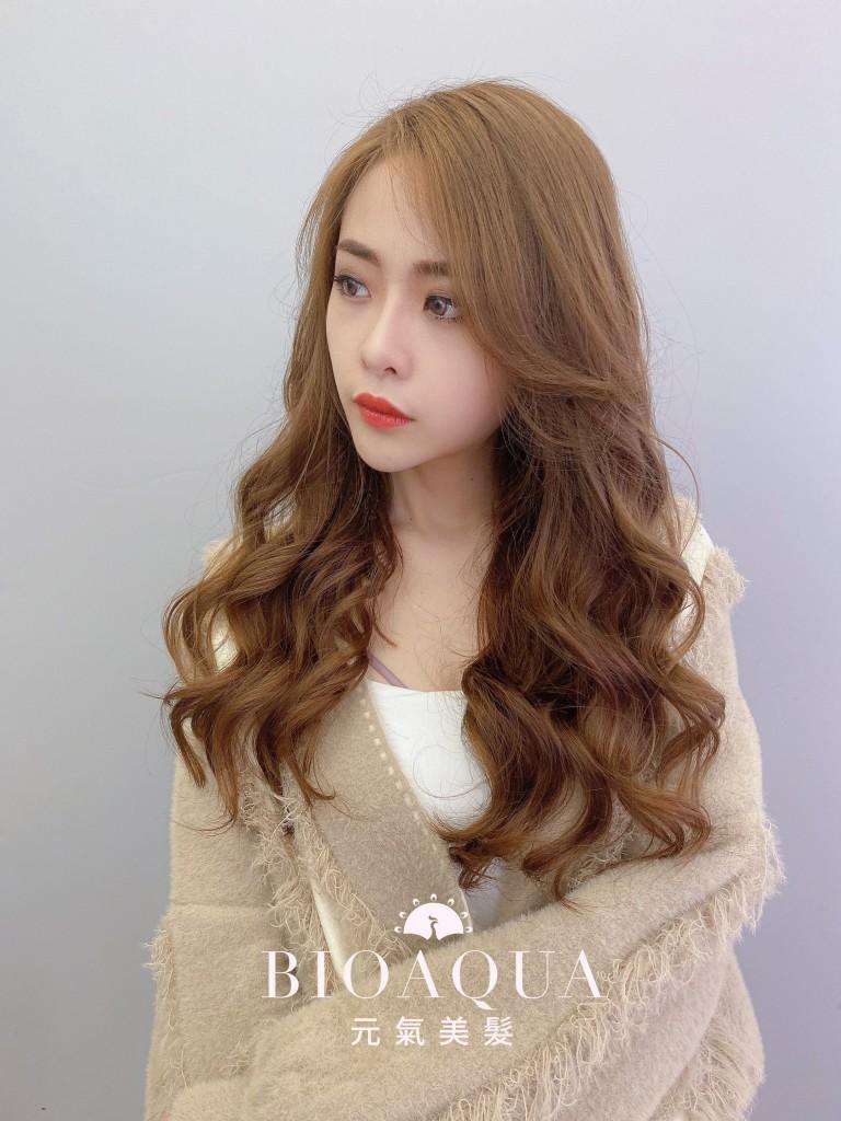 手繞電棒蓬鬆捲 - 台中髮廊 燙髮護髮推薦 Bioaqua元氣美髮