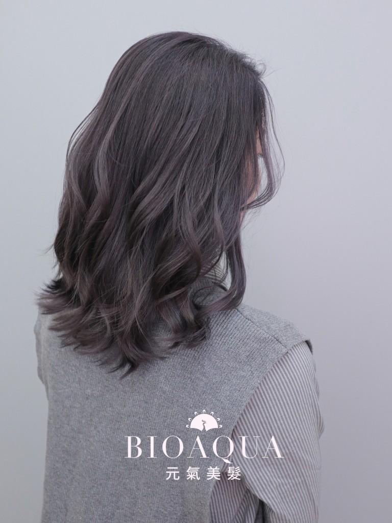 霧感深灰髮色 - 台中髮廊 漂髮染髮推薦 Bioaqua元氣美髮