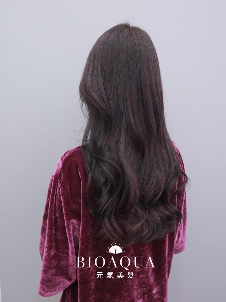 深摩卡紫灰色 霧感髮色 - 台中髮廊 剪髮染髮推薦 元氣美髮