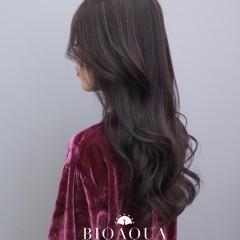 深摩卡紫灰色 霧感髮色