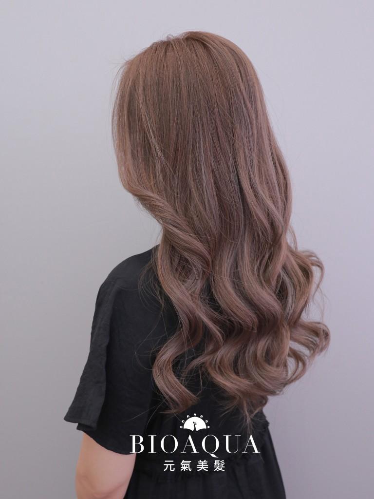 粉紫奶茶色 - 台中髮廊 染髮護髮推薦 bioaqua元氣美髮
