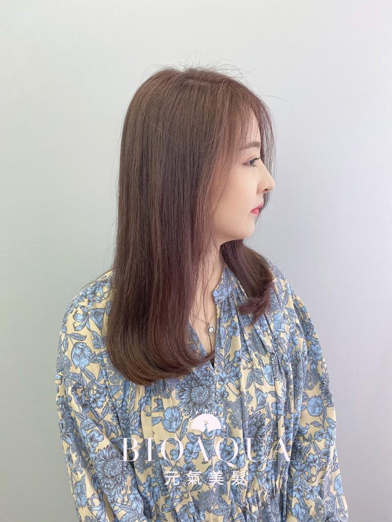 粉紫奶茶色 - 台中西區髮廊 剪髮染髮推薦 bioaqua元氣美髮