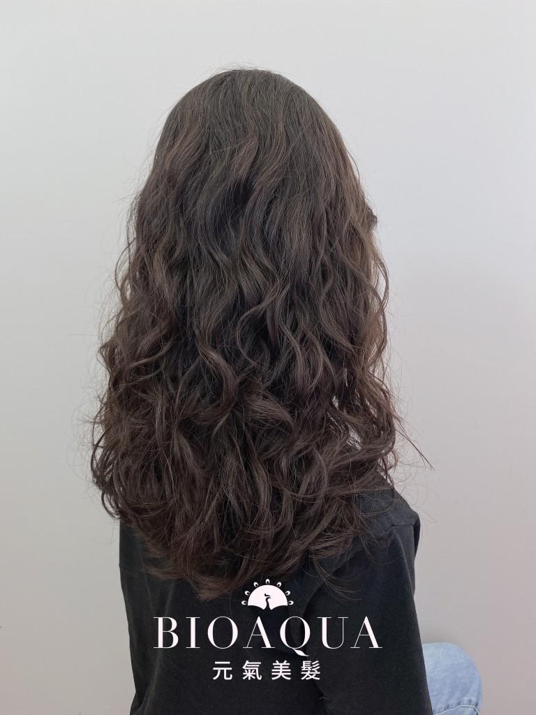 隨性慵懶蓬鬆復古捲 - 台中髮廊 剪髮燙髮推薦 元氣美髮